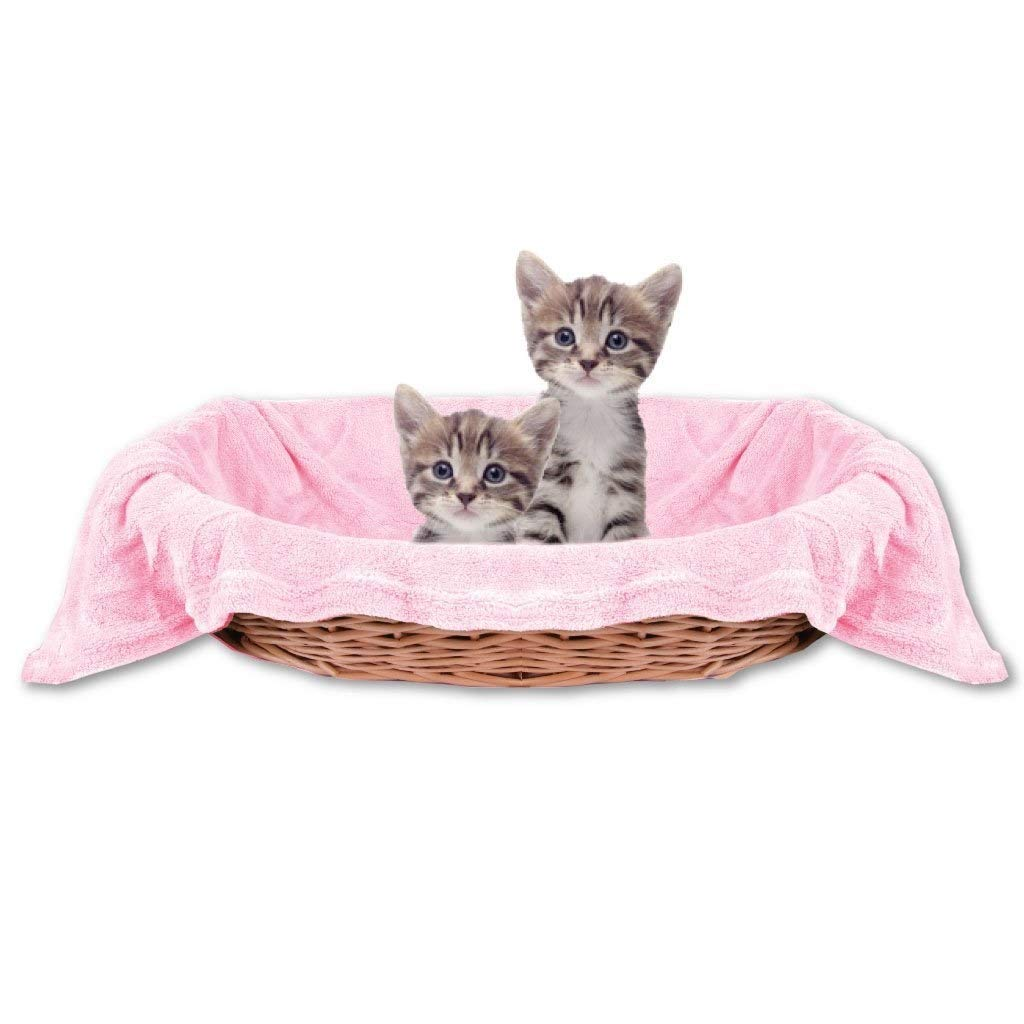 CFHJN HOME Pet Cat Blanket Comfortable and Super Soft Pet Blanket(Pink,100  100cm) Pet Bed Blanket