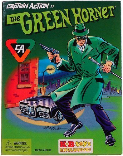 Captain Action as The Green Hornet 12 Inch Action Figure KB Toys (Green Hornet Mask And Hat)