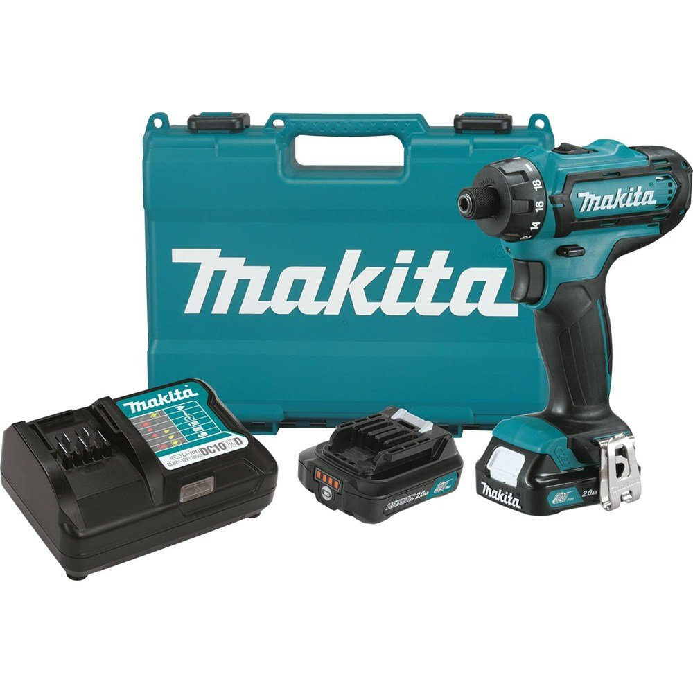 Makita FD06R1 12V Max CXT Lithium-Ion Cordless Hex Driver-Drill Kit, 1/4''