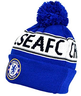 69b82966116 Chelsea TEXT Cuff Knitted Hat  Amazon.co.uk  Clothing