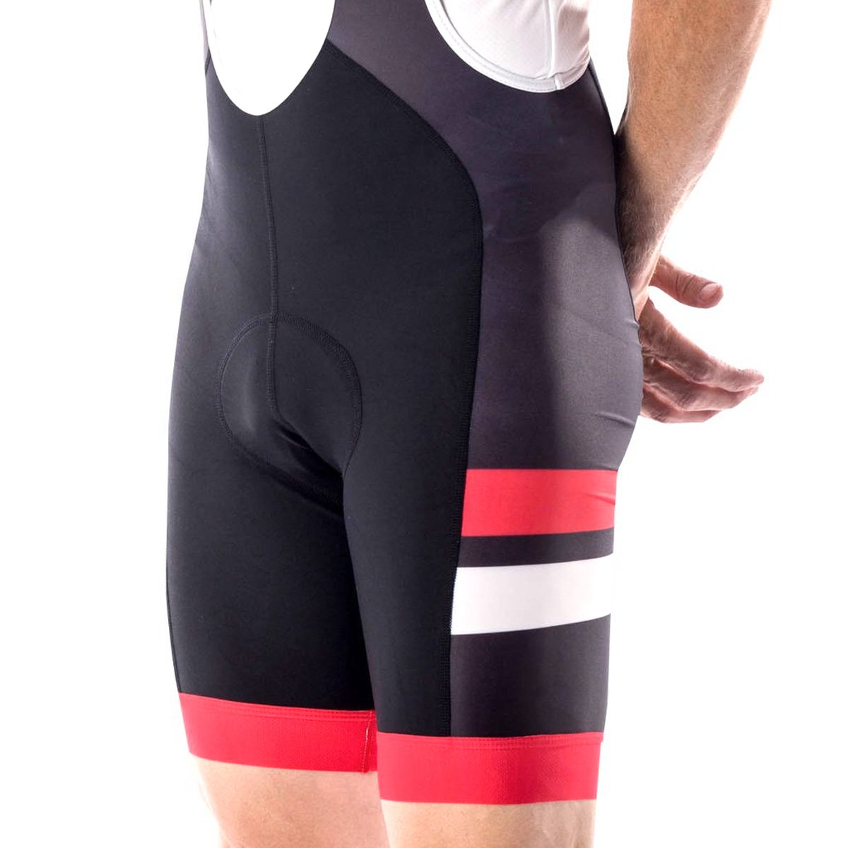 Bellwether 2018メンズエッジCycling Bib Short – 62221 XX-Large Black/Ferrari B07C1TFQ1V
