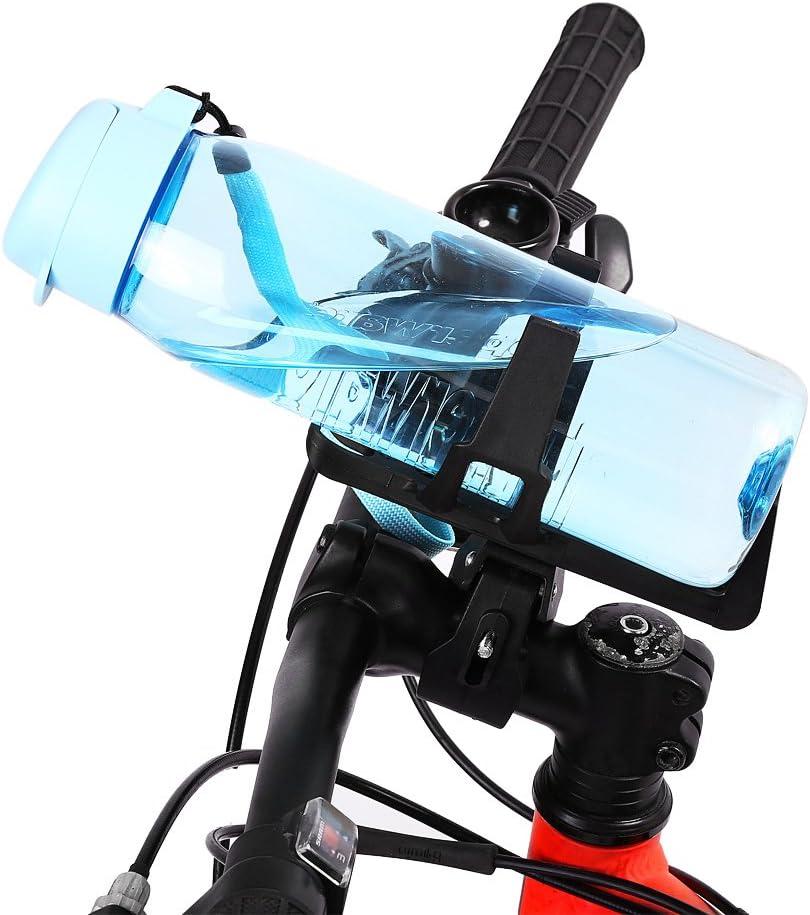 Qiilu Motorcycle Motorbike Bike Drink Cup Holder Water Beverage Mount Stand Bottle Adapter Black