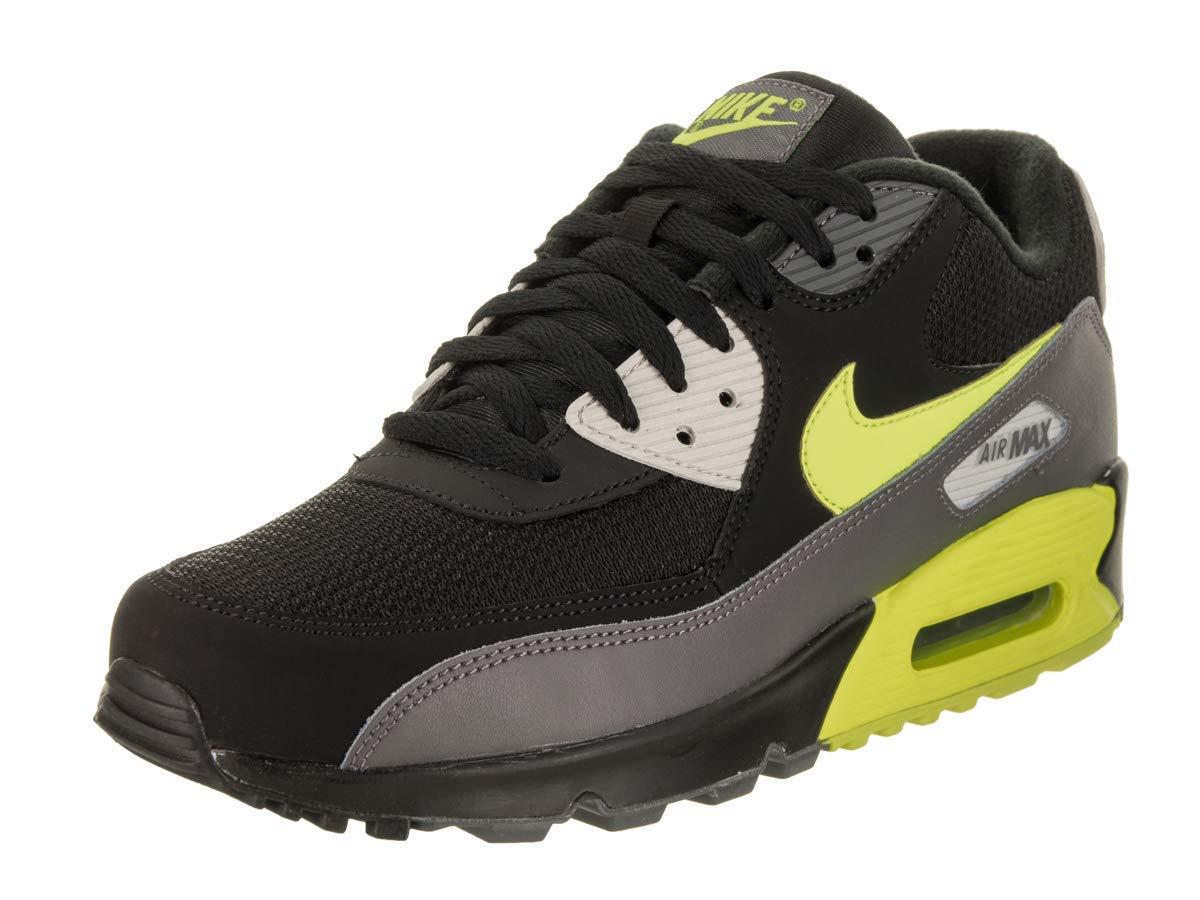 Nike Mens Air Max 90 Essential Running Shoes Dark GreyVoltBlackBone AJ1285 015 Size 8