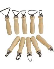 Mango grueso de madera de acero inoxidable, cortador de alambre plano, conjunto de herramienta