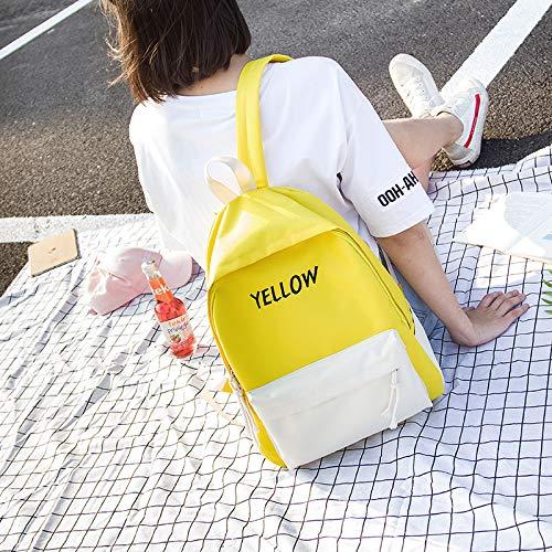 Simple De Campus 13cm Con Estudiantes 29 40 Amarillo Mochila Color Mochilas Escolares Lienzo Contraste Los Para qtwppX