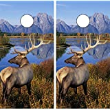 C110 Deer Hunting CORNHOLE LAMINATED DECAL WRAP SET Decals Board Boards Vinyl Sticker Stickers Bean Bag Game Wraps Vinyl Graphic Tint Image Corn Hole