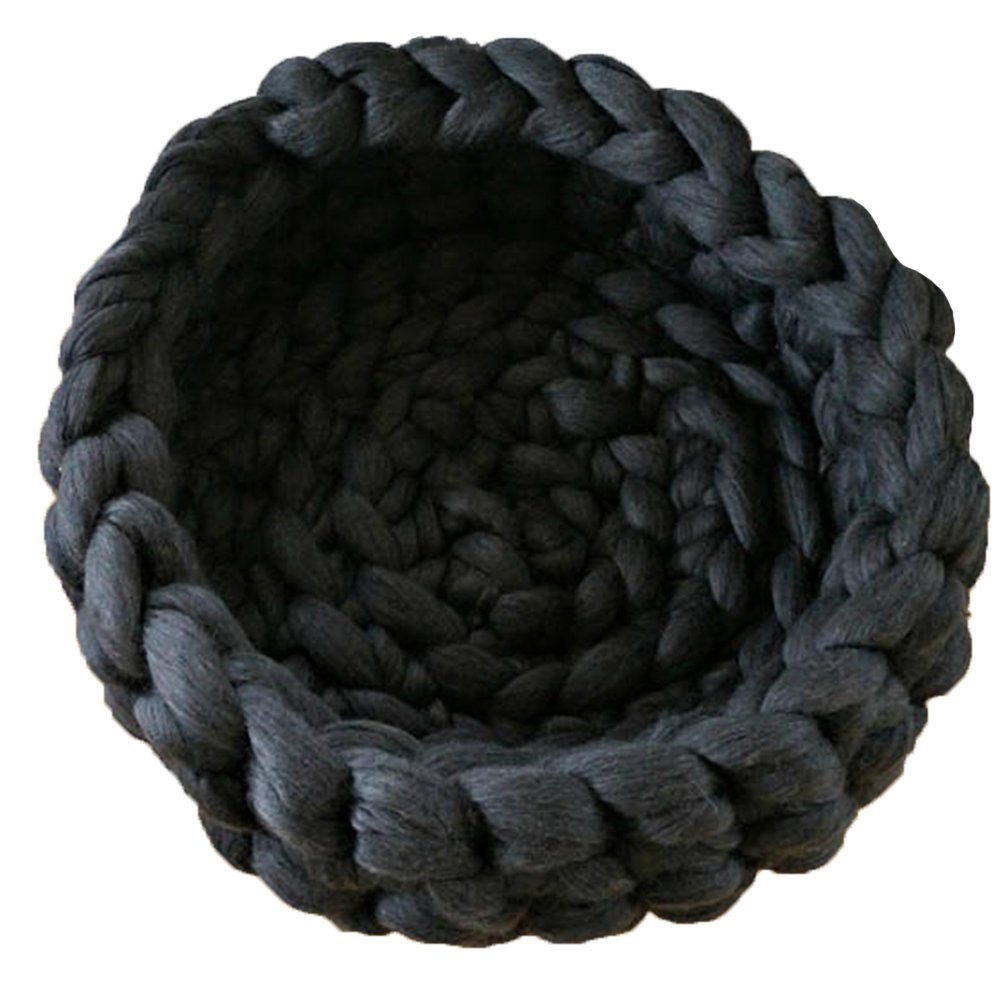 Dark Grey Diameter-18in Dark Grey Diameter-18in Popular Knit Chunky Pet Cave Handmade Cat Bed,Chunky Knit Pet Bed Dark Grey Pet Cave,Pet Bedding,Chunky Cat Bed,Merino Wool Kitty Cave,Wool Pet Bedding Diameter-18in