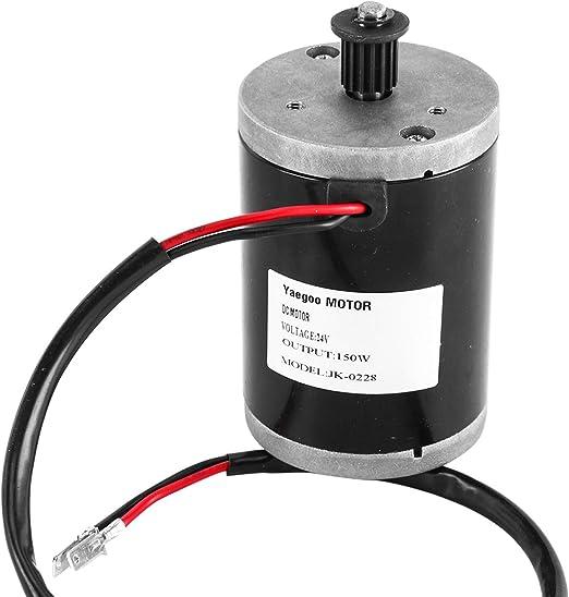 Amazon.com: Yaegoo 150 W 24 V DC Motor eléctrico para ...