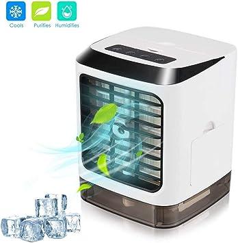 Mini aire acondicionado, 3 en 1, USB, silencioso, ventilador de ...