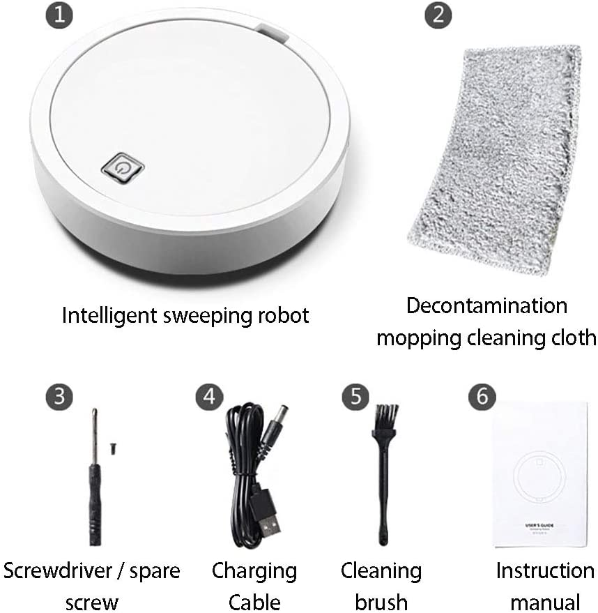 Smart Aspirateurs Robotiques,aspirateur Robot 3 en 1,Intelligent Anti-Chute Grand Volume Filtrage Efficace Multiple Applicable pour Sols Durs Purple