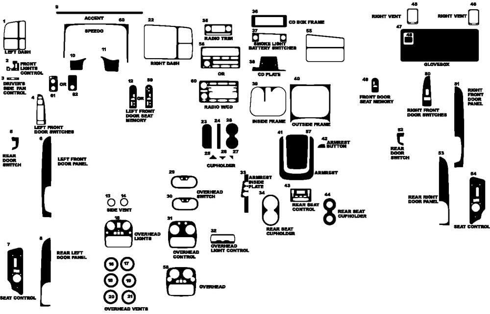 Rvinyl Rdash Dash Kit Decal Trim for Chevrolet Tahoe 2003-2006 - Camouflage (Desert)