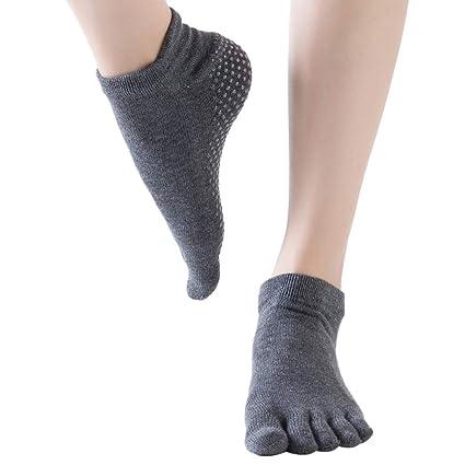 Lixada Calcetines de Yoga Antideslizantes para Mujer ...