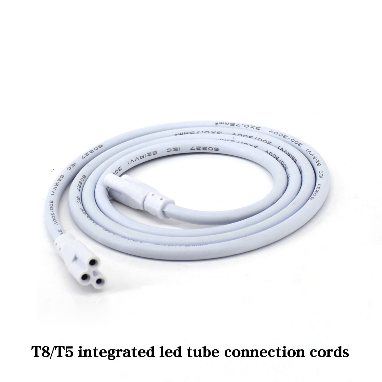 6ft 6-Pack Dual-Ended Connector Cable for Integrated Led Tube Bulb T5 T8 LED Lamp Connecting Cords