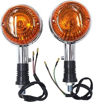 AHL Mortorradblinker Blinkleuchte Blinker Lampe Kit f/ür Yamaha XV400 Virago Alle Modelle Vorne//Hinten