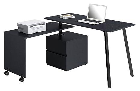 Sixbros office scrivania porta pc nero ct amazon