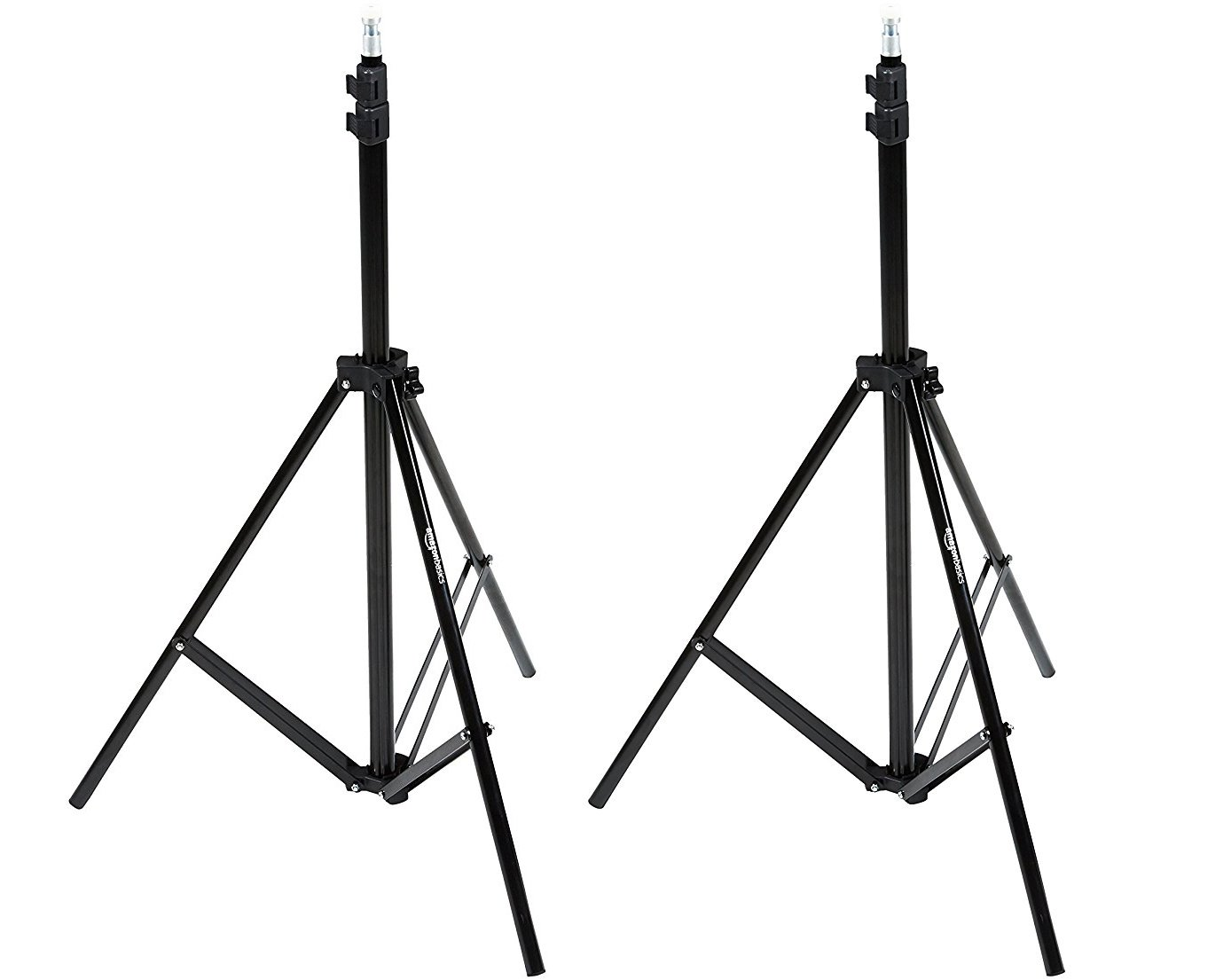 AmazonBasics Aluminum Light Photography Tripod Stand with Case - Pack of 2, 2.8 - 6.7 Feet, Black by AmazonBasics