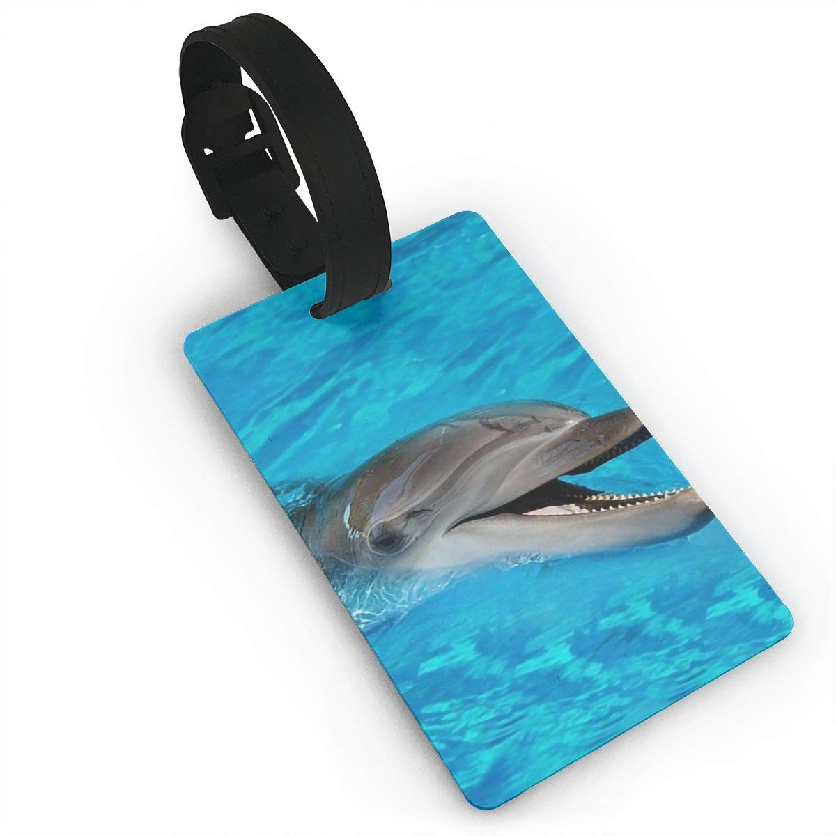 Dolphins Ocean Handbag Tag For Travel Tags Accessories 2 Pack Luggage Tags