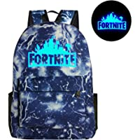 KOBWA Luminous Fortnite Backpack, Fortnite Galaxy School Backpack Rucksack Laptop Book Satchel Hiking Bag for Teen Boys and Girls