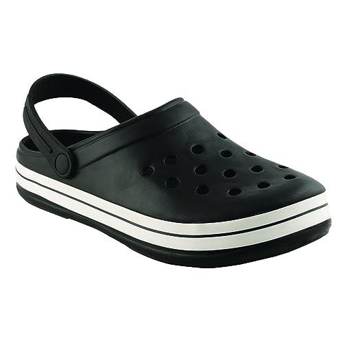 7428b7781bc3 Birde PU Black Clogs Sandals for Mens   Boys  Buy Online at Low ...