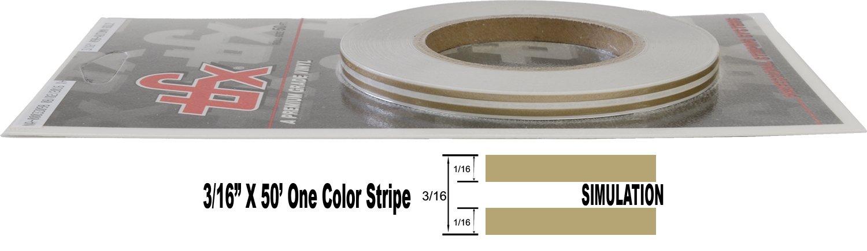 "- 099-Gold Metallic 1//16/"" Stripe, 1//16 Gap, Then 1//16/"" Stripe Universal TFX 00033099 Auto Customizing Dual Pinstripe 3//16 x 50"