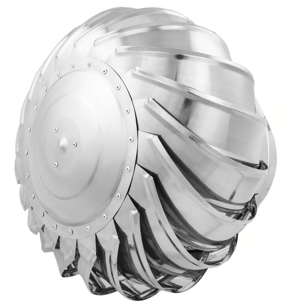 PrimeMatik Schornsteinabdeckung rotierend Kaminhaube sch/ützt vor Wind f/ür 300 mm Rohre
