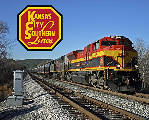 "Kansas City Southern Rich Mountain 8"" x 10"" Metal Sign for sale  Delivered anywhere in USA"