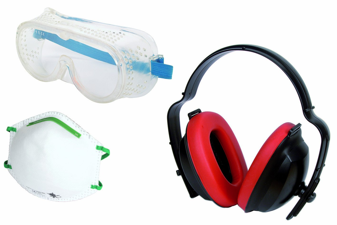 Wolfcraft 4871000 1 Health and Safety Kit 3 Pieces