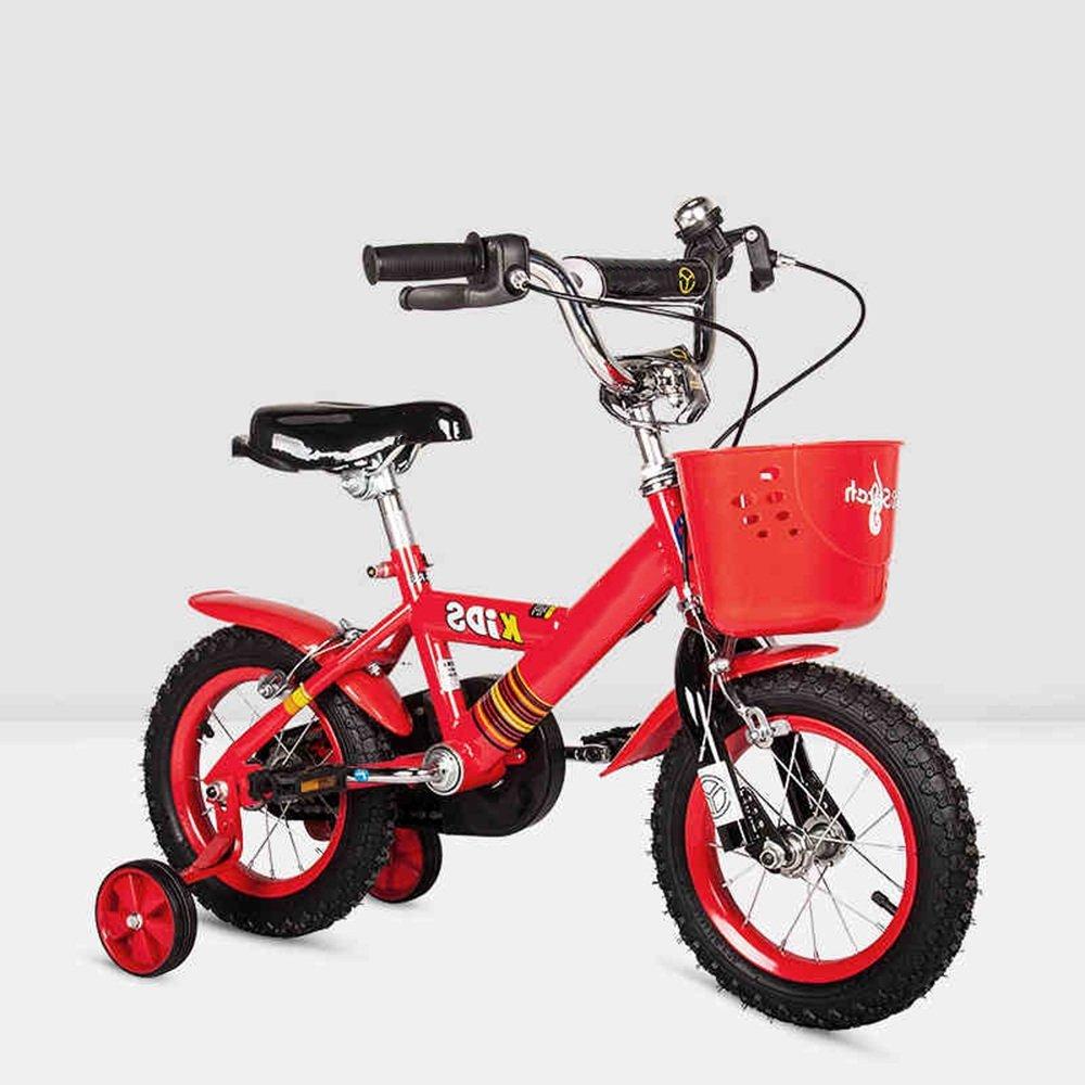 YANGFEI 子ども用自転車 子供用自転車ベビー用ベビーカー12/14/16/inch 3-6-8-10歳少女の少年の自転車カラフルな多色 212歳 B07DWQF1D3 16 inch|赤 赤 16 inch