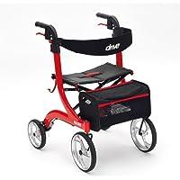 Drive DeVilbiss Healthcare Red Nitro 4 轮优质滚轮 带 25.4 厘米前脚轮(标准高度)