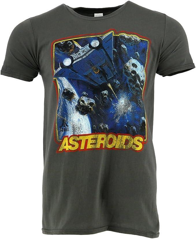 Atari Asteroids Distressed Grey T-shirt