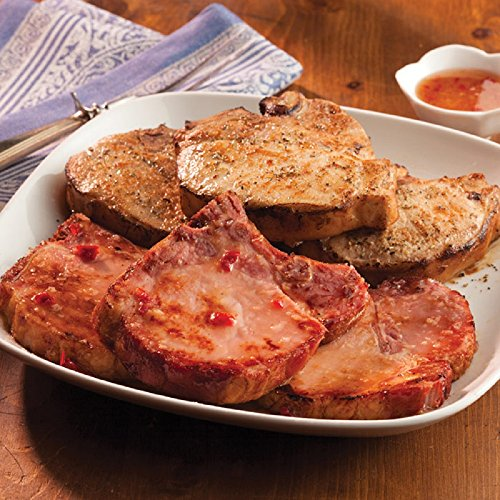 Gourmet Foods, Iowa Sampler, Four 12 oz. Iowa Chops Four 8 oz. Smoked Pork Chops by Unknown