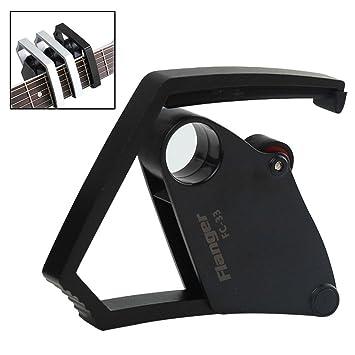 Kobwa - Cejilla de guitarra acústica para guitarras eléctricas y guitarras (con una sola mano, cambio rápido, ...