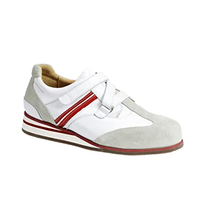 af89e4c2c460 Women s Sports Shoes - White   Red - Leather   Nubuck - Velcro - Width - HK  - Size - 8  Amazon.co.uk  Shoes   Bags