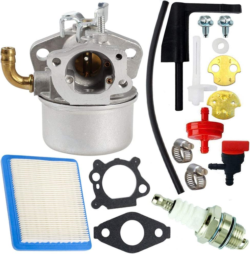 TOPEMAI 798653 Carburetor Compatible with Briggs and Stratton 591299 791077 696981 697354 694508 790290 698474 690046 Lawn Mower Carb