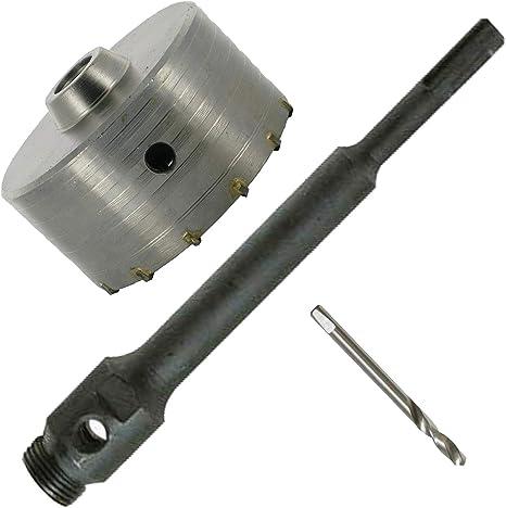 Kit de Forage Béton trepan scie cloche 125 mm tige 20 cm 581694 124518 brique