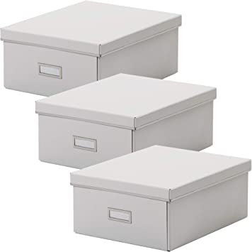 Ikea SMARASSEL - Cajas de almacenaje (tamaño A4, 27 x 35 x 15 cm), color blanco: Amazon.es: Bricolaje y herramientas