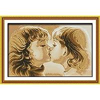 Chreey Kit Punto Croce, Serie di Amico, Motivo: Bacio, Dimensione: 53cm X 32cm