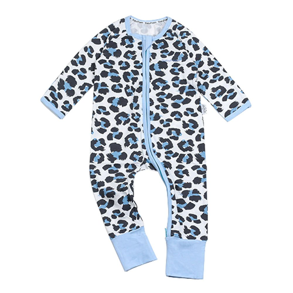 Ding-dong Baby Boy Girl Long Sleeve Cotton Leopard Romper