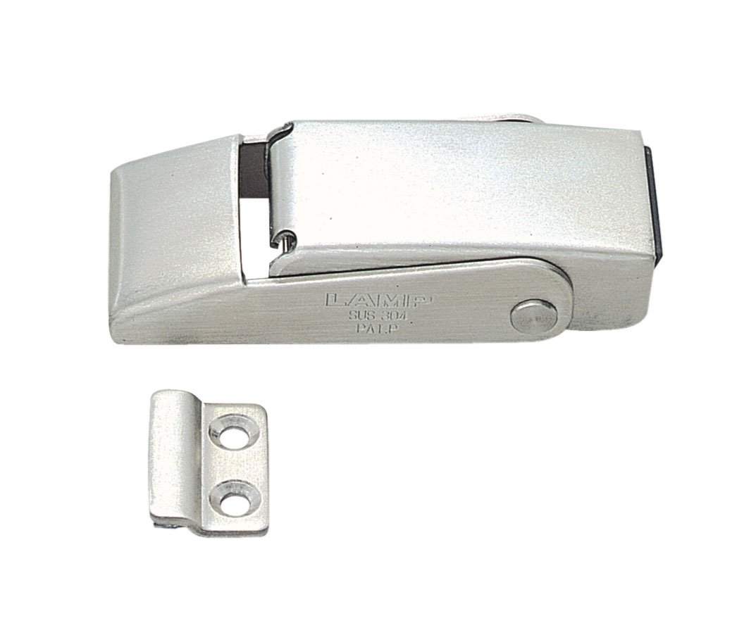 Stainless Steel 304 Spring Loaded Draw Latch, Satin Finish, Non Locking, 3 7/32'' Length (Pack of 1)