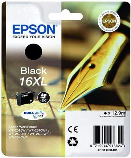 Epson Original 16xl Tinte Füller Wf 2630wf Wf 2650dwf Wf 2660dwf Wf 2750dwf Wf 2760dwf Amazon Dash Replenishment Fähig Schwarz Bürobedarf Schreibwaren