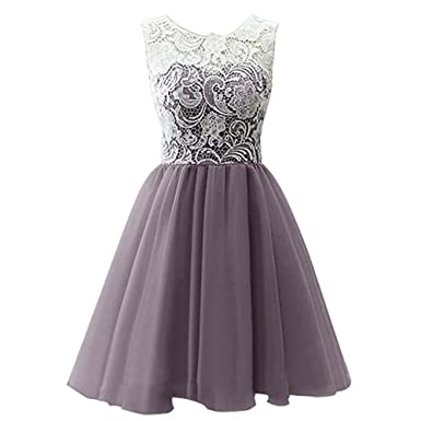 Free Fisher Girls Dresses Flower Lace Chiffon Prom Party Bridesmaid, Gray, 3-4