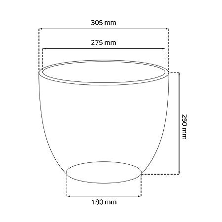 Pot De Fleur Ceramique Baril Avec Support Soucoupe Hauteur 25 Cm