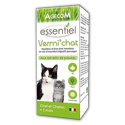 essentiel Suplemento vermi gato para gatos - 100 ml: Amazon.es ...