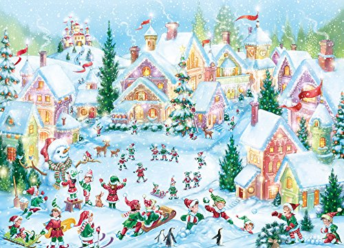Elf Village Christmas Cards - Box of 15 Cards