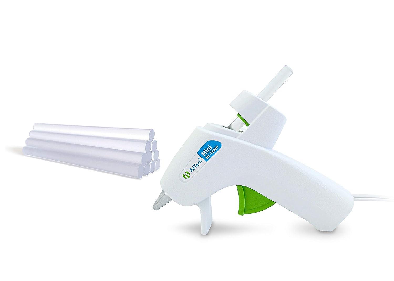 Ad-Tech Mini Hi-Temp Hot Glue Gun Combo Pack, White