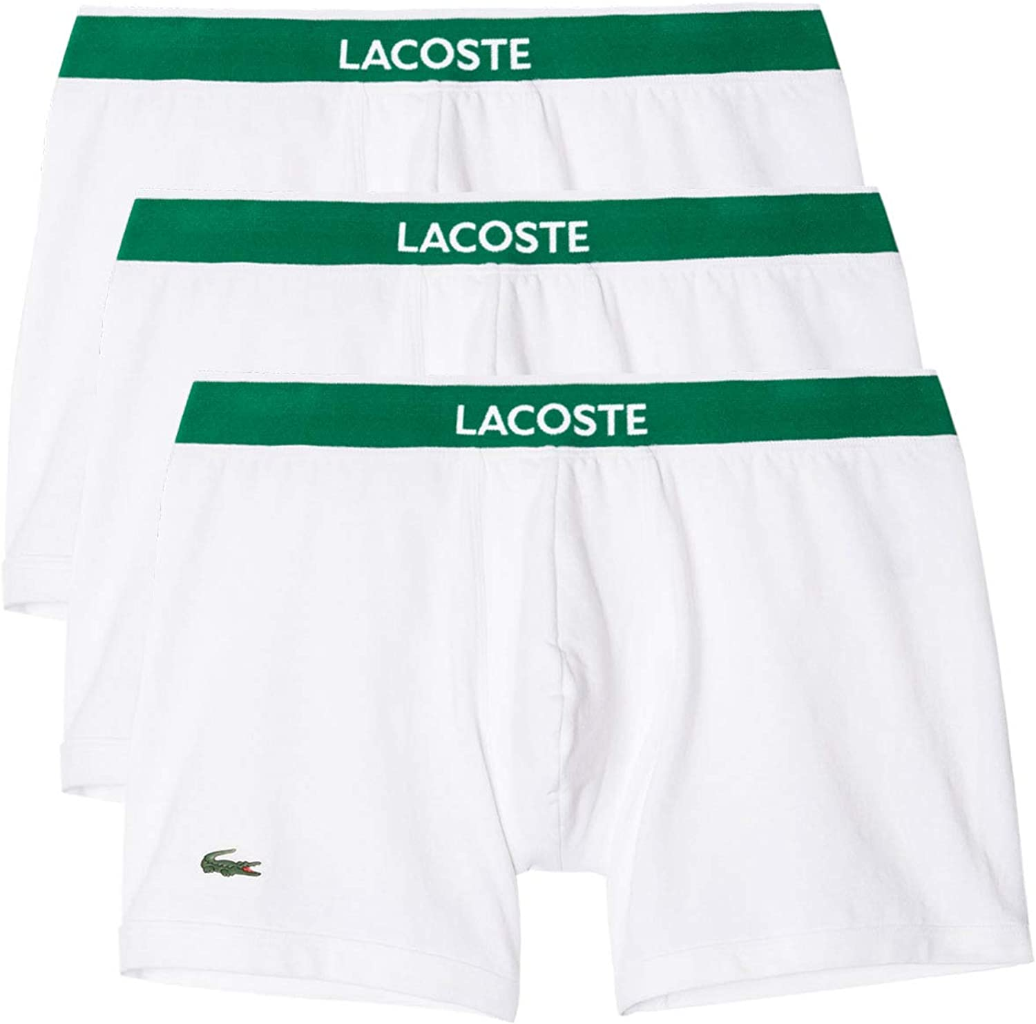 Lacoste In Cotone Stretch 3 Pz Boxer Tronco Nero