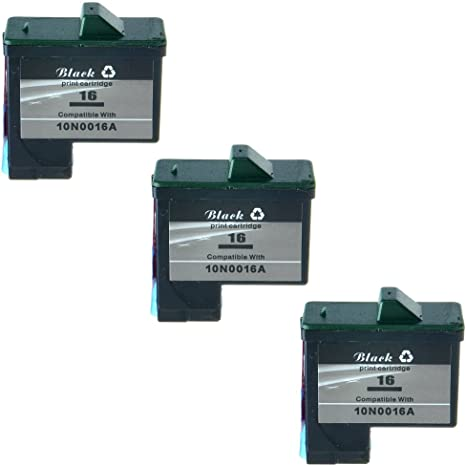 SuperInk 2 Black Remanufactured Ink Cartridge Replacement for Lexmark 16#16 10N0016 Z600 Z601 Z602 Z612 Z617 Z640 High-Yield