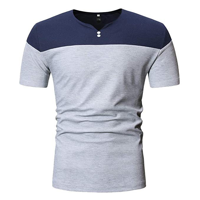 Amazon.com: YKARITIANNA Mens Fashion Short Sleeve Henry Painting Large Size Casual Top Blouse Shirts: Arts, Crafts & Sewing