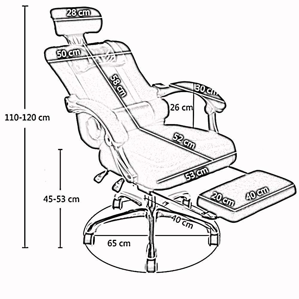 JIEER-C stol nät hög rygg vridbar kontorsstol andningsbar nät multifunktionell nackstöd dubbel kudde vardaglig och bekväm vilande bärvikt 150 kg flerfärgad valfri (färg: Blå) Röd