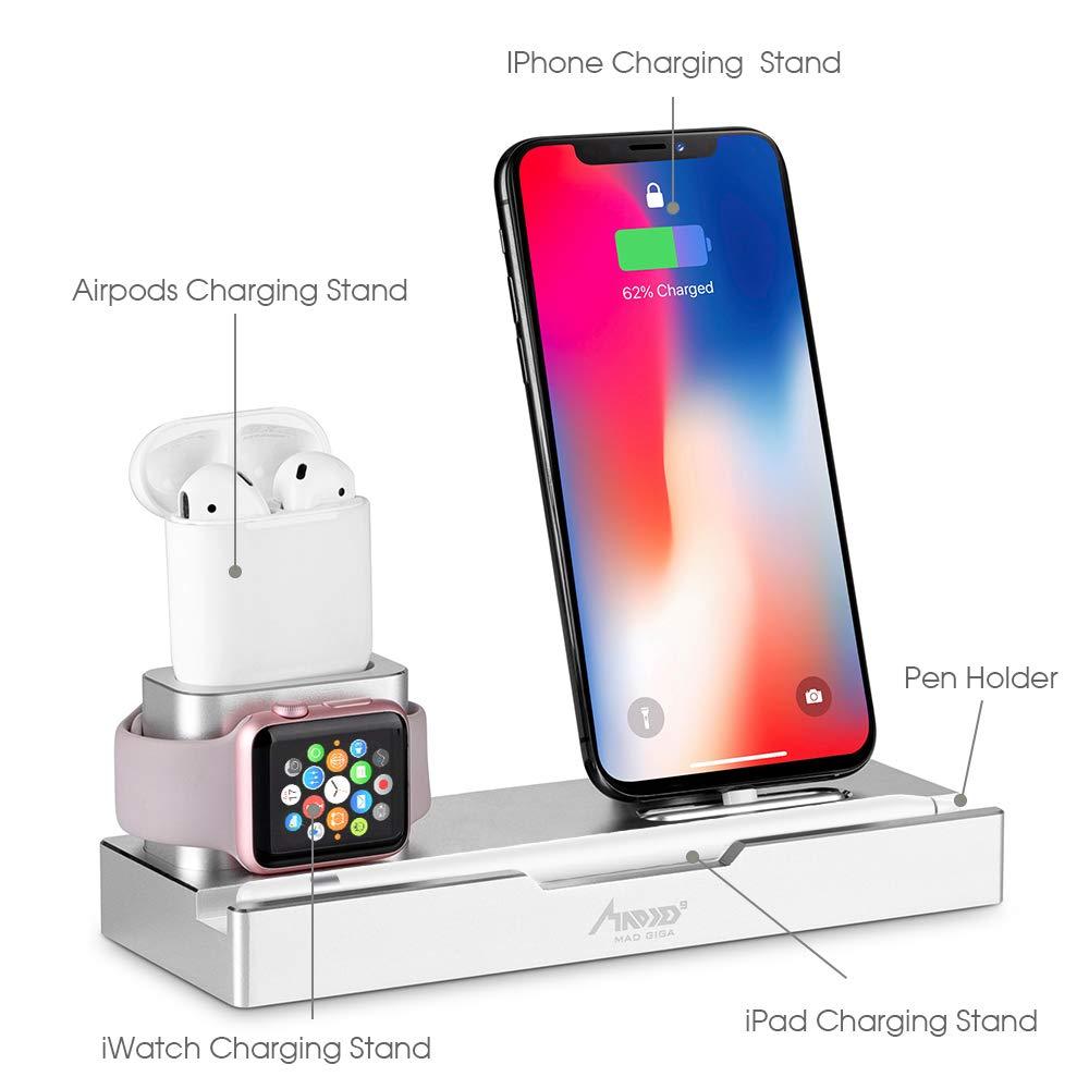 Supporto da Tavolo in Alluminio per apple watch, iPhone e AirPods, pencil
